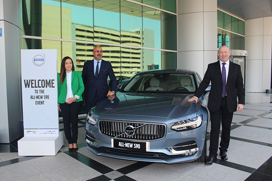 From right to left, Michael Brightmore, EKKanoo CEO; Bijan Majidi, Senior General Manager, Motor City Holding; Mirela Micic, Motor City Marketing Manager