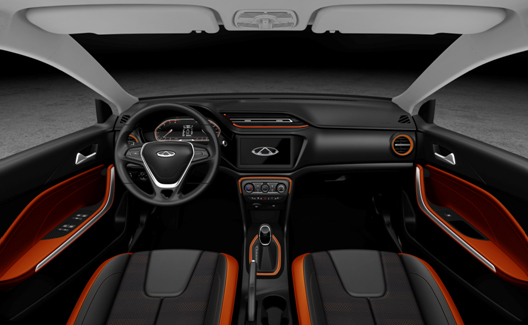 Orange & Dark Interior